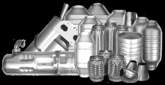 Ο ΜΟΝΟΛΙΘΟΣ παράγει καταλύτες και φίλτρα μικροσωματιδίων diesel για όλους τους τύπους και μοντέλα οχημάτων